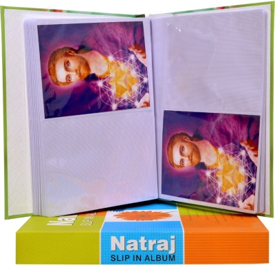 Natraj New Exclusive Slip In(0.6mm Thick Pvc Plastic Pages) 72 Pocket 5 X 7 Inch Album
