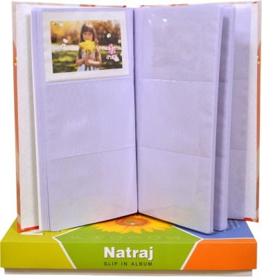 Natraj New Exclusive Slip In (0.6mm Thick Pvc Plastic Pages) 108 Pocket 4 X 6 Inch Album