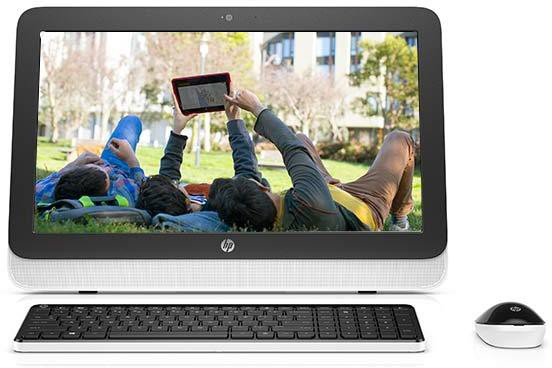 View HP All-in-One-20 r141in Desktop Computer Price Online(HP)