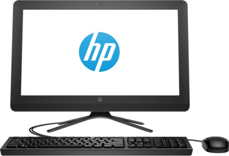 View HP - (Pentium Quad Core/4 GB DDR3/1 TB/Linux)(Black, 34.2 cm x 48.6 cm x 4.8 cm, 3.5 kg, 19.5 Inch Screen) Desktop Computer Price Online(HP)