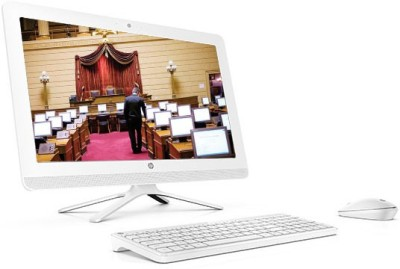 HP Premium AIO Series All-in-one Desktop PC 24-g025in(White)