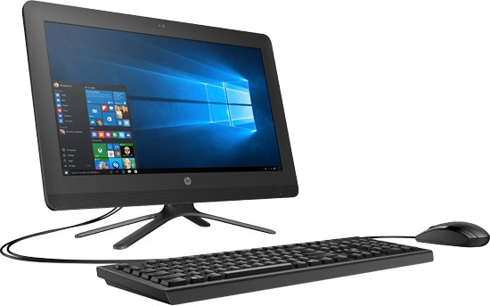 View HP - (Core i3/4 GB DDR4/1 TB/Free DOS)(Black, 19.5 Inch Screen) Desktop Computer Price Online(HP)