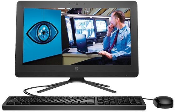 View HP - (Pentium Quad Core/4 GB DDR3/1 TB/Free DOS)(Black, 370 mm x 495 mm x 184 mm, 4.4 kg, 19.5 Inch Screen) Desktop Computer Price Online(HP)