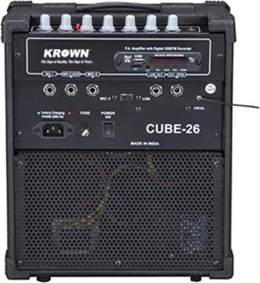 Krown Portable Rechargeable PA System Cube-26-USB with Speaker & Degital Media Player & FM 25 W AV Power Amplifier
