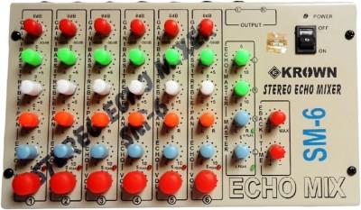 Krown Professional 6 Channel Mixer 10 W AV Power Amplifier(Black)