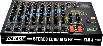 Medha Professional 8 Channel Stero Echo Mixer With Top Quality 220 W AV Control Receiver