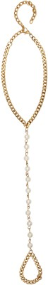 20Dresses Line Of Pearls Metal Toe Anklet at flipkart