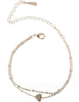 Charms Heart Shaped Double Layer Hollow Floral Alloy Anklet at flipkart