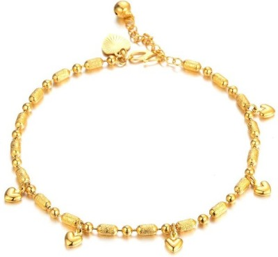 Wearyourfashion Gold Filled Heart Alloy Anklet
