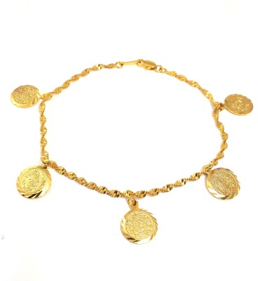Ammvi Creations Egyptian Elegance Hallmarked 18 Caret Gold Plated Luxury Alloy Anklet