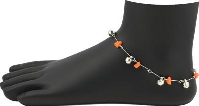 High Trendz Funky Orange Alloy Anklet