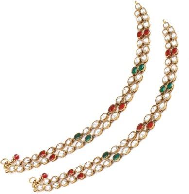 The Art Jewellery Brass Anklet(Pack of 2) at flipkart