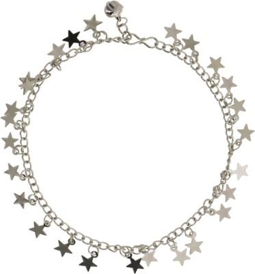 Niara Silver Star Metal Anklet