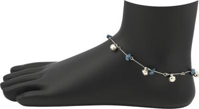 High Trendz Trendy Blue With Blue Bellz Alloy Anklet