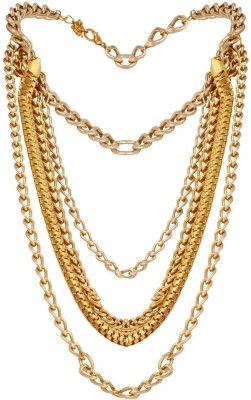 Fayon Fayon Chic Stylish Golden Multilayer Chains High Heeled Alloy Anklet