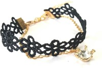 Young & Forever Vintage Retro Stylish Black Lace Diamonte Charm Alloy, Fabric Anklet best price on Flipkart @ Rs. 690