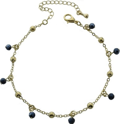 High Trendz Golden And Black Balls Alloy Anklet at flipkart