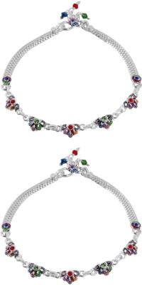 Jewel99 Fates Silver Anklet