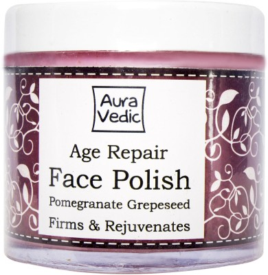 Auravedic Age Repair Face Polish with Pomegranate Grapeseed