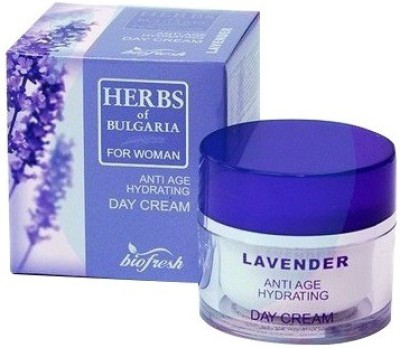Bio Fresh Herbs of Bulgaria Day Cream For Women Anti Age Hydrating, Lavender