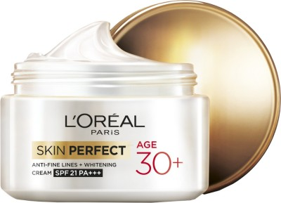 L ,Oreal Paris Skin Perfect Anti-fine Lines and Whitening Cream SPF 21 PA+++