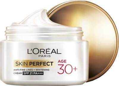 L ,Oreal Paris Skin Perfect Anti-fine Lines and Whitening Cream SPF 21 PA+++