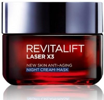 L ,Oreal Paris Revitalift Laser X3, New Skin Anti-Aging Night Cream - Mask