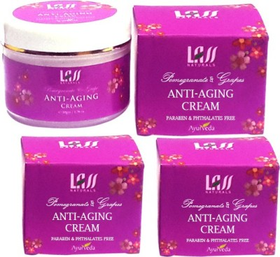 Lass Naturals Pack Of 3 Anti-Ageing Skin Protection Cream