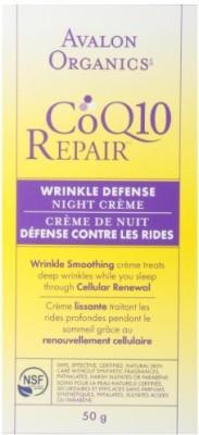 Avalon Organics Coq10 Repair Wrinkle Defense Night Creme