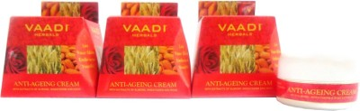 Vaadi Herbals Herbals Value Pack of 3 Anti-ageing Cream - Almond, Wheatgerm Oil & Rose