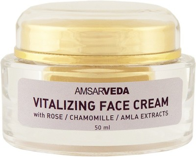 Amsarveda Vitalizing Face Cream - 100% Natural with Rose / Amla / Chamomila extracts