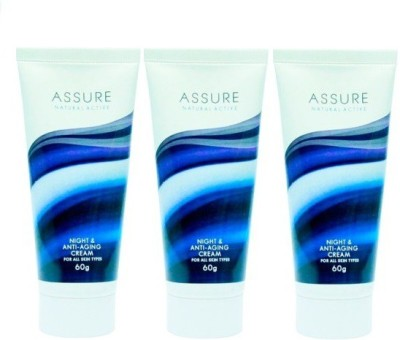 Assure Natural Active Anti-Aging Night Cream Vitamin E Enriched (Pack Of 3)
