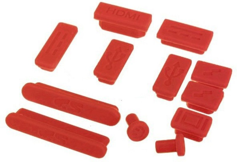 Pindia Power Port Red Anti-dust Plug(Laptop Pack of 12)