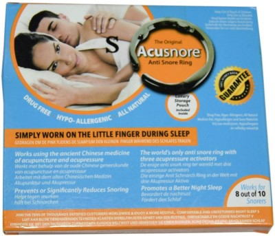 Acusnore Ring- With Three Acupressure Activators (Small) Anti-snoring Device