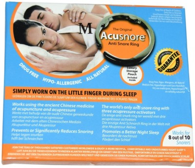 Acusnore Ring- With Three Acupressure Activators (Medium) Anti-snoring Device(Nose Clip)
