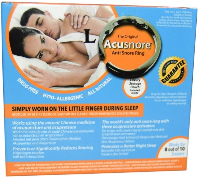 Acusnore Ring- with three Acupressure Activators (Large) Anti-snoring Device(Nasal Strip)