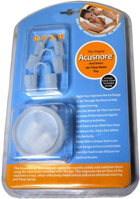 Acusnore Air Flow Nose Pin - STARTER PACK- Includes 4 Sizes To Ensure You Find a Perfect Fit (FULL PACK (ALL FOUR SIZES)) Anti-snoring Device
