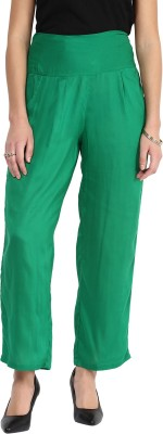 Shopingfever Regular Fit Women's Green Trousers