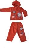 Harsha Boys T-shirt Trouser (Red)