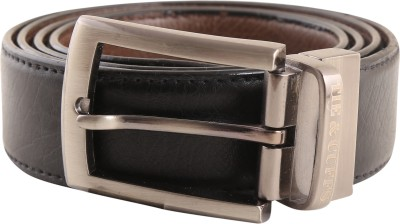 TIE & CUFFS Men Formal, Party, Casual Black, Brown Genuine Leather Reversible Belt