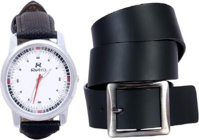 Retro Wrist Watch Men's  Combo
