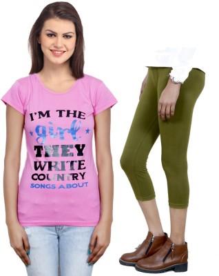 IndiWeaves Apparels>Women>Combo Sets Top Girl,s  Combo