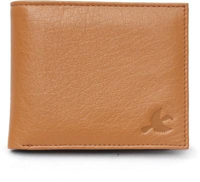 Hornbull Men Tan Genuine Leather Wallet