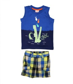 FS Mini Klub Boys T-shirt Shorts(Blue)