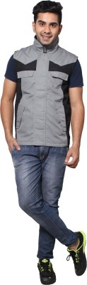 Stylogue Sleeveless Solid Men,s Jacket