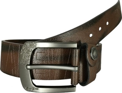 Fusion Kalewensen Men Casual, Party, Evening Brown Artificial Leather Belt