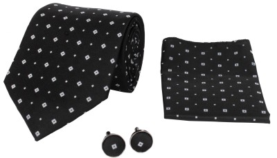 CorpWed Embroidered Delight Tie Men's  Combo