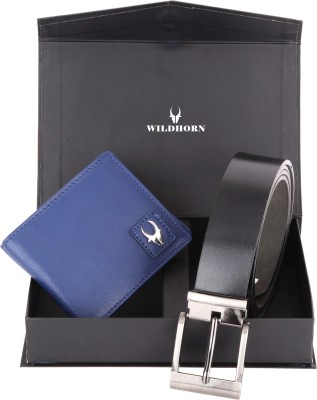 WildHorn Men, Women Casual, Formal Blue Genuine Leather Wallet