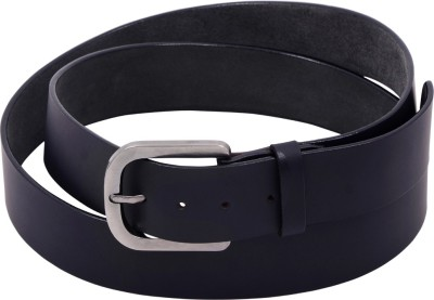 Arkom Men Formal Black Genuine Leather Belt