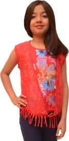 Titrit Girls Party(Festive) Top Jacket(Red)